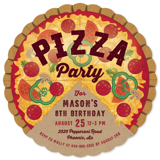 birthday party invitations - Pizza Pie Party by Paper Sun Studio
