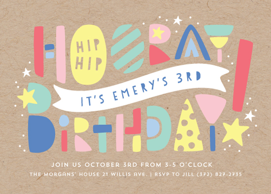birthday party invitations - Colorblock by Laura Hankins