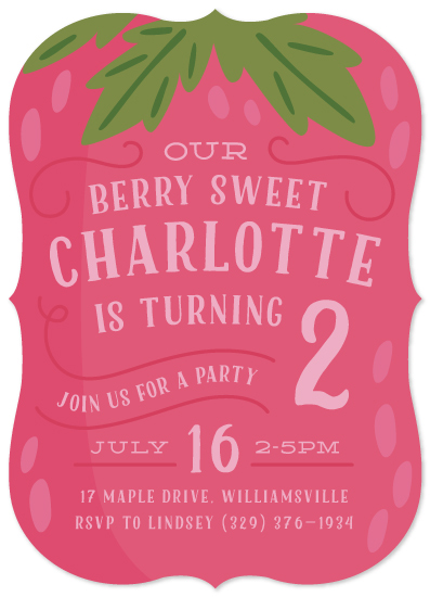 birthday party invitations - Berry Sweet by Laura Hankins