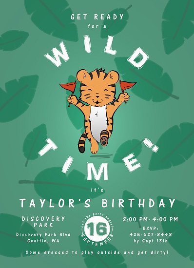 birthday party invitations - Wild Party by Avian by Design