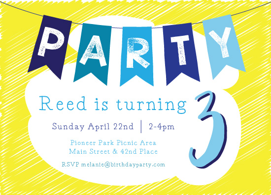 birthday party invitations - Sunshine Party by Karena Anderson