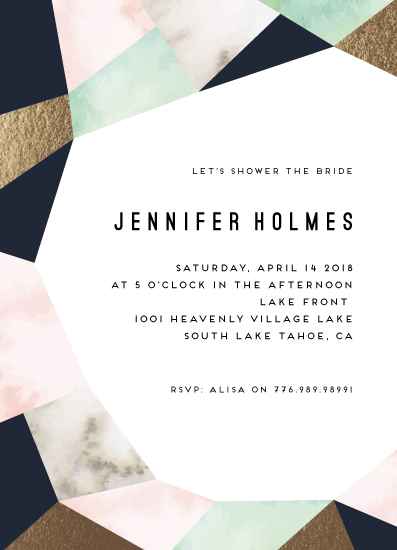 party invitations - Geo Elegance by Petra Kern