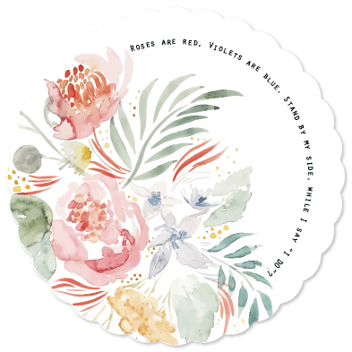 party invitations - Bespoke Bouquet by Katie C. Webb