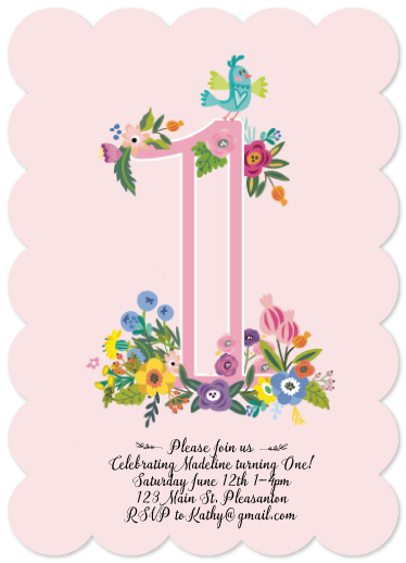 birthday party invitations - Sweet Floral by Lisa Rodgers