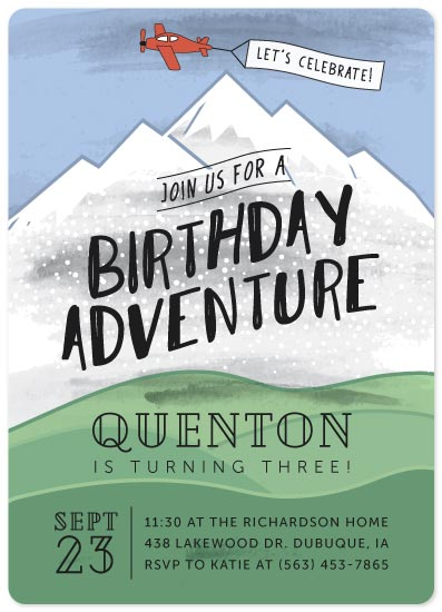 birthday party invitations - Birthday Adventure by Mabe Design Co.