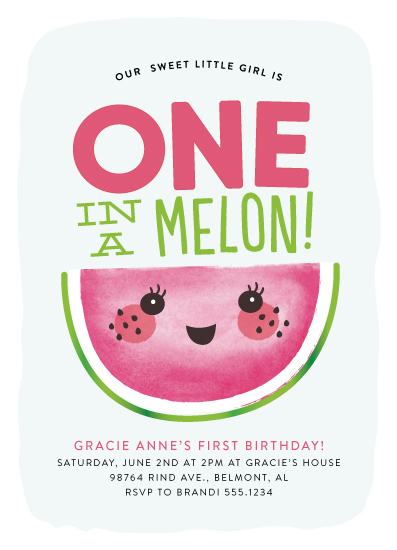 Birthday Party Invitations One In A Melon At