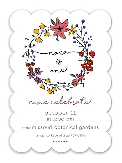 birthday party invitations - Pretty Spring Flowers by Kate Dorsey