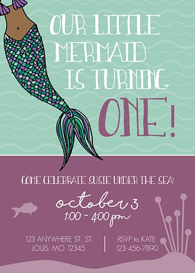 birthday party invitations - Little Mermaids by Kate Dorsey