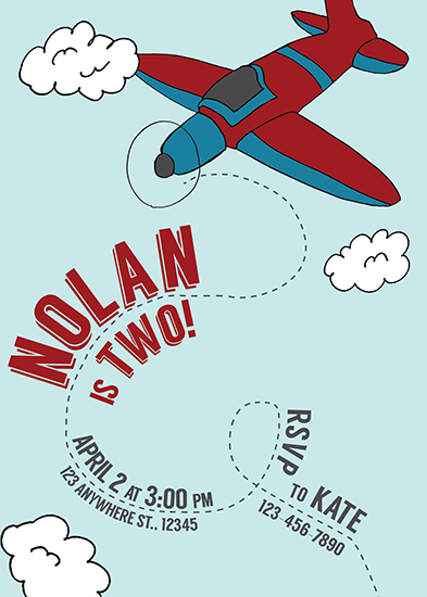 birthday party invitations - Up and Away! by Kate Dorsey