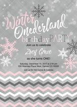 Winter ONEderland Birth... by Willow Lane Paper