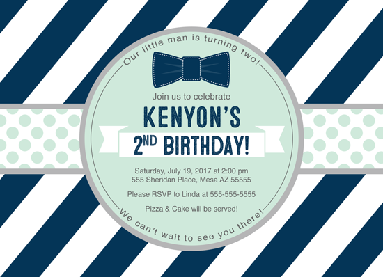 birthday party invitations - Litlte man birthday invitations by Willow Lane Paper