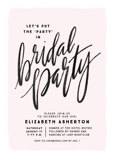 party invitations - bridal party party by Lea Delaveris