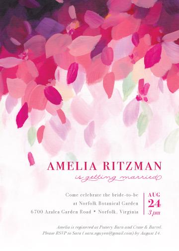party invitations - Azalea by Holly Whitcomb