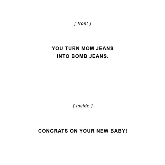 greeting card - Bomb Jeans by 2birdstone