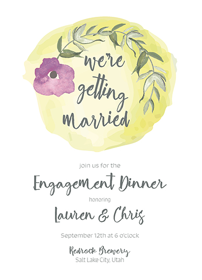 party invitations - We're Getting Married by Lauren Rondou
