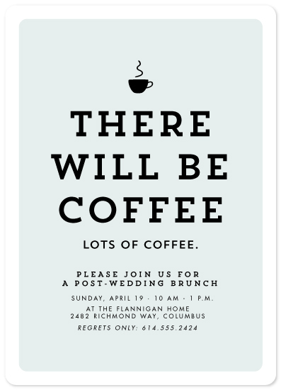 party invitations - There will be coffee by Lea Delaveris