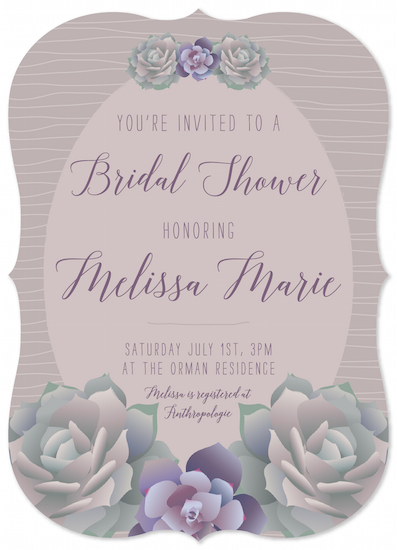 party invitations - Succulence by Natalia