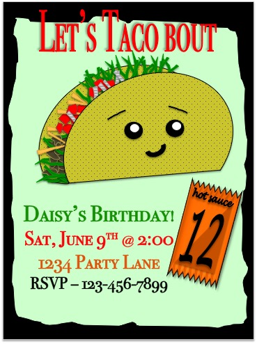 birthday party invitations let s taco bout it at minted com