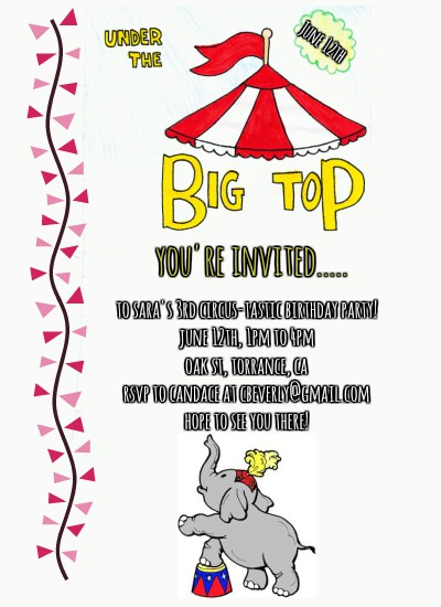 birthday party invitations - Circus-Themed Birthday by itsgrace