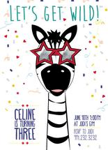 wild birthday zebra by lauren berkery