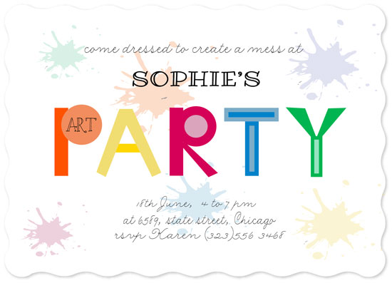 birthday party invitations - Arty Party by Roshni Anand