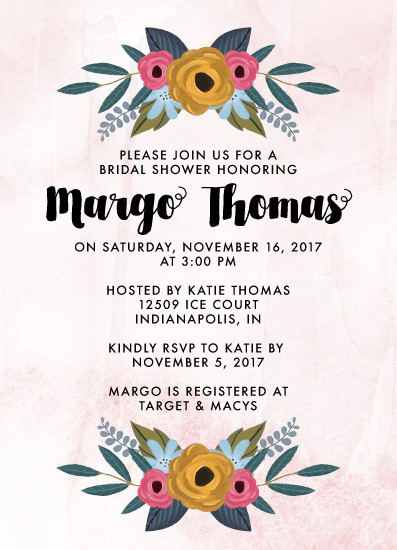 party invitations - Floral Distressed Bridal Shower Invitation by Kendal Leffler