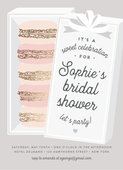 party invitations - Macaron Parlor by Jennifer Lew