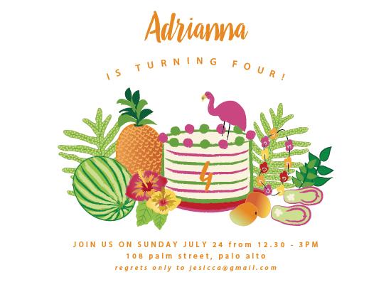 birthday party invitations - Tropical Birthday by Kanika Mathur