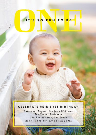 birthday party invitations - Bright One by Erica Krystek