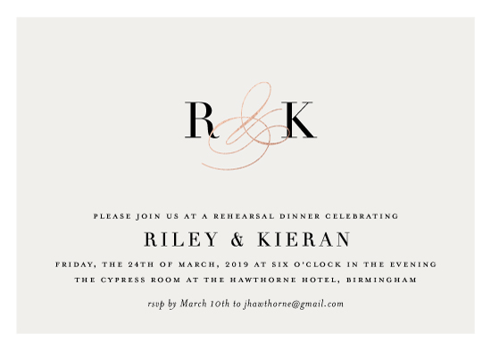 party invitations - Inspired Initials by Jessica Williams