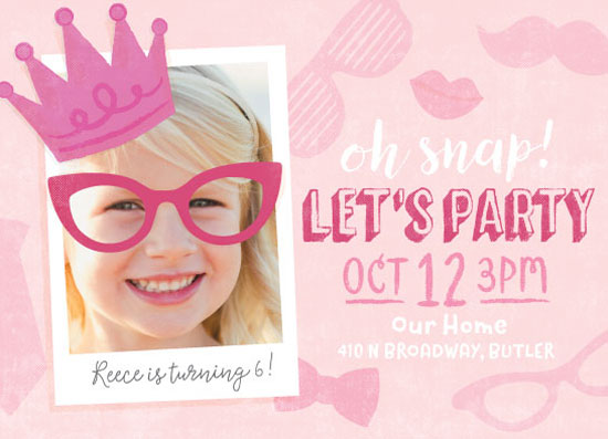 birthday party invitations - Photo Booth Fun by Jessie Steury