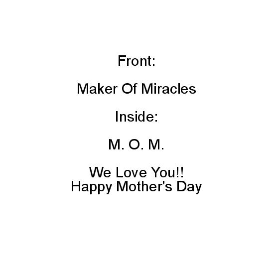 greeting card - M.O.M by Roshni Anand