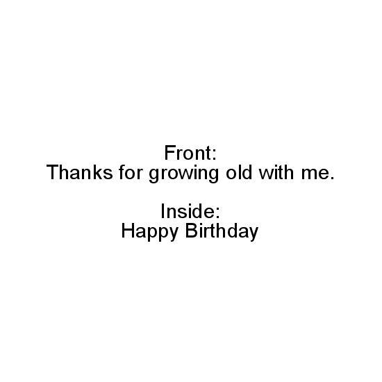 greeting card - growing old by Alethia Frye