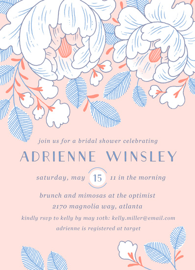 party invitations - Spring Blooms by Paper Raven Co.