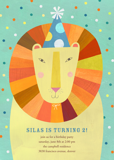 birthday party invitations - Party Lion by melanie mikecz