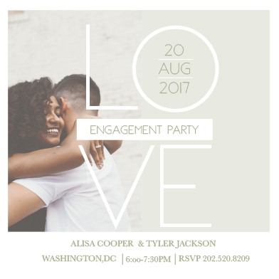 party invitations - Engagement Love by Alicia Tosky