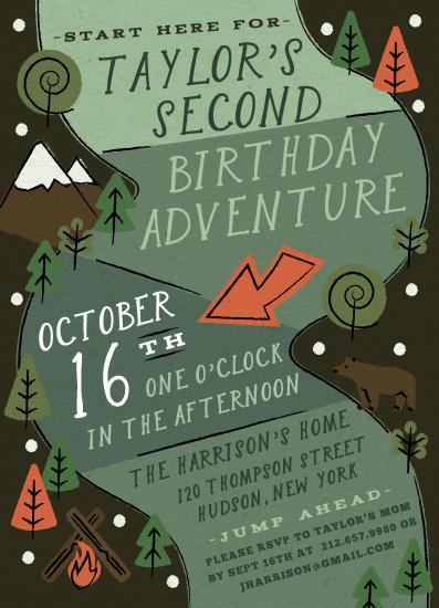 birthday party invitations - Skip Go by Jennifer Lew