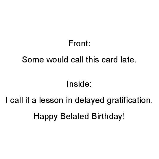 greeting card - Delayed Gratification by Paper Hideaway
