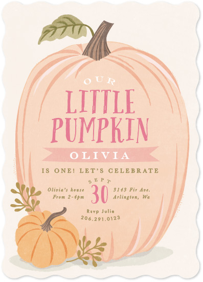 birthday party invitations - Autumn Pumpkin by Karidy Walker