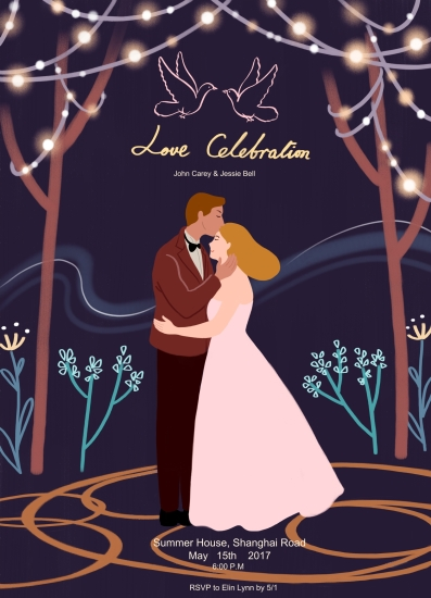 party invitations - love celebration by Elin Lynn