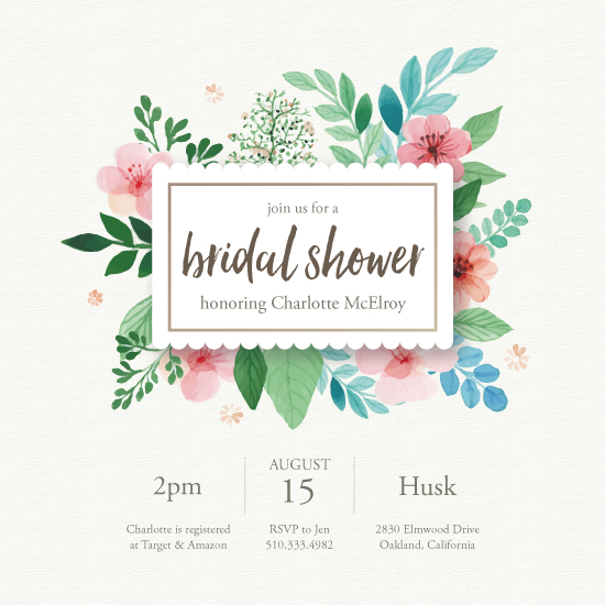 party invitations - Flower Power by Annie Dickerson