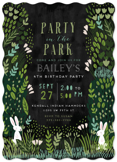 birthday party invitations - Party in the park by iamtanya