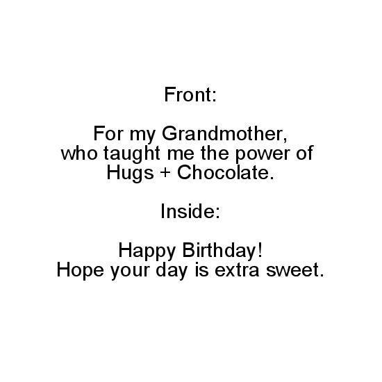 greeting card - Hugs + Chocolate by Paper Hideaway