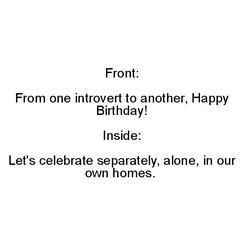 introvert birthday