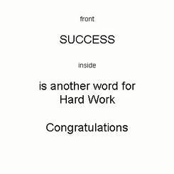 Success is Hard Work