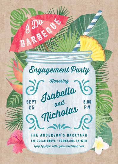 party invitations - Tropical Celebration by Paper Sun Studio