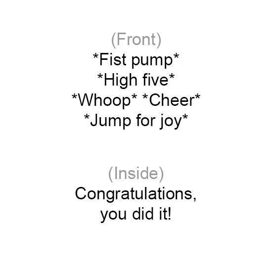 greeting card - Enthusiastic Congratulations by Chhaya Joynt