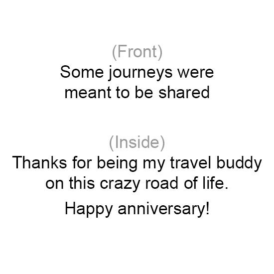 greeting card - Travel buddy for life by Chhaya Joynt