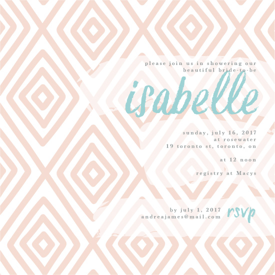 party invitations - Peachy by Tiffany Wong