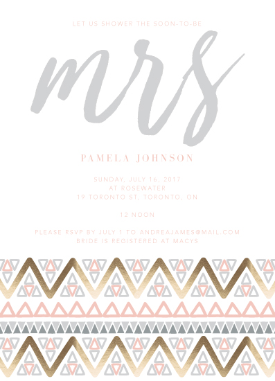 party invitations - Pink Tribe by Tiffany Wong
